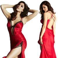 Women Sexy Lingerie Lace Dress Underwear RED Babydoll Sleepwear