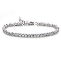 Top quality Swiss Zircon Fashion Italina Rigant Platinum Plated Bracelet for women