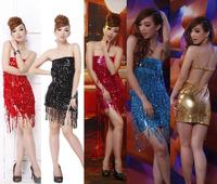 Ladies Sexy Bra Backless Strapless Dress Mature Party Dress Retro Evening Dress