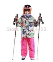 2014 New Outdoor Sportswear Suit Warm Windproof Waterproof Ski Suit Mountaineering Jacket Hiking Coat Clothing Set