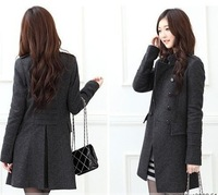 Spring and Autumn 2014 the new women's windbreaker jacket Korean double-breasted woolen coat and long sections Slim
