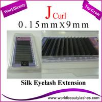 Free Shipping 10trays/Lot 0.15 J 9mm Silk Eyelash Extensions