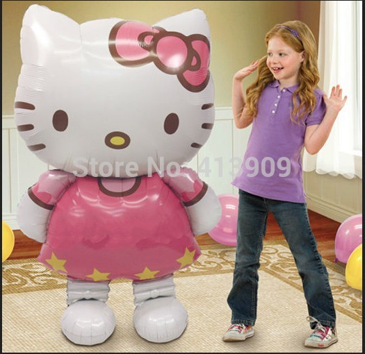 Free shipping New large size Kitty Cat foil balloons cartoon birthday decoration wedding party balloons Classic toys gift(China (Mainland))