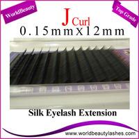 Free Shipping 10trays/Lot 0.15 J 12mm Silk Eyelash Extensions