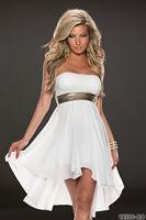 DA18066 Free Shipping White Off Shoulder  Fashion Summer Dress for Women Sexy Strapless Chiffon Dress