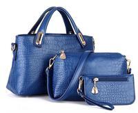 Three-piece Fashionable crocodile handbag shoulder bag handbag Messenger wild