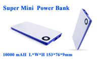 Super Mini Portabl Power Bank 10000mAH External Backup Battery Charger For Mobile Phone/Tablets/MP3
