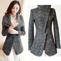 new fashion winter 2014 women coat Slim wool coat winter woolen coat winter coat women casacos femininos