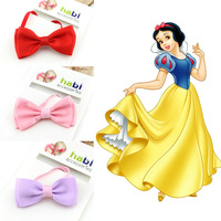 2014 Snow White Princess baby girl ribbon bow headband for kid and Children headband hair wear accessories free shipping