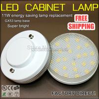 LED cabinet light  5pcs/lot 4w power led gx53 spot lamp bulb free shipping super bright closet cupboard spot lights