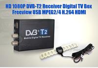 HD 1080P DVB-T2 Satellite TV Receiver  Digital TV-BOX  Freeview USB MPEG 2/4 H.264 HDMI,Free Shipping