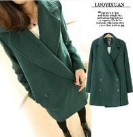 women's coats 2014 fashion wool coat  Slim winter coat women solid color