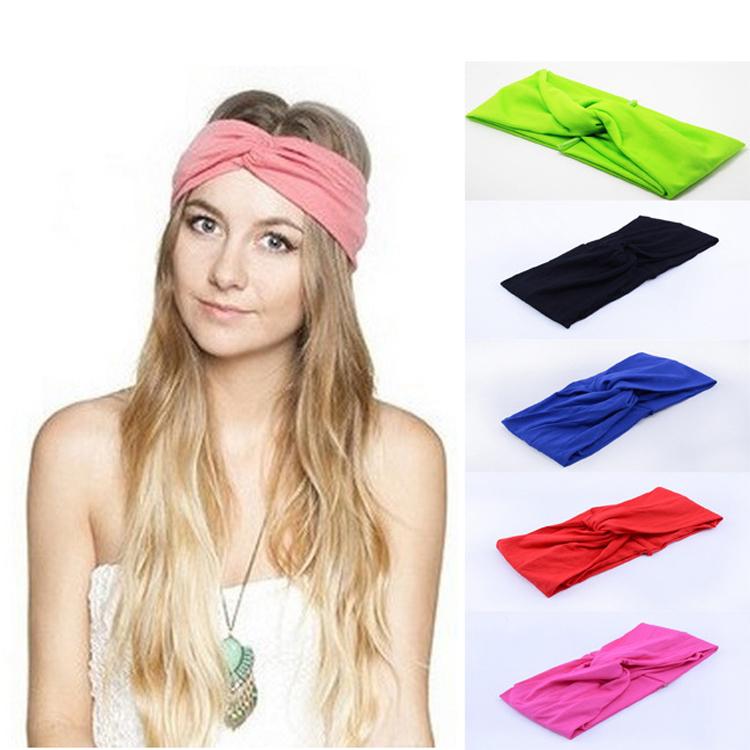 6 pieces/lot vintage twist knot turban headband for women Sport Yoga hair band Bandana hijab Headscarf Wrap For girls headwear(China (Mainland))