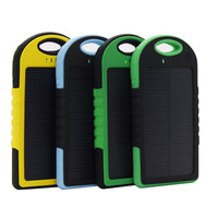 Solar Charger Power Bank External Battery 5000mAH Waterproof And Dustproof Drop resistance