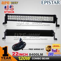 22 INCH 120W LED WORK DRIVING LIGHT BAR FOR BOAT SUV OFFROAD ATV 4x4 TRUCK 4WD VS 72W/126W/180W /240W/300W