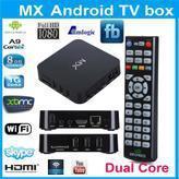 1pc Original MX XBMC Midnight Android 4.2 Dual Core TV Box 1G RAM 8G ROM WiFi Sports Adults XBMC Fully Loaded Google TV Box HDMI