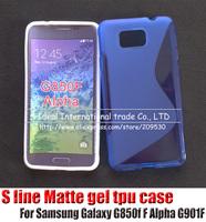 Free shipping 10x silicone s line gel case cover For Samsung Galaxy Alpha G850f F Alpha G901F