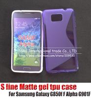 s line case For Samsung Galaxy Alpha G850f F Alpha G901F,silicone gel tpu cover case skin,30pcs+free shipping