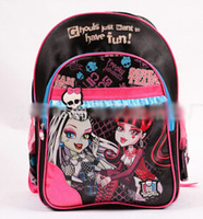 EMS AU NZD Free shipping Wholsale LARGE size Monster High backpacks school girl girls backpack bag new with Tags 8 pcs/lot