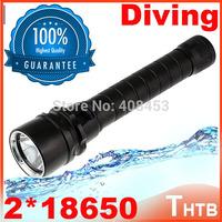 2014 ultrafire waterproof Underwater scuba lanterna Diving Flashlight Torch shocker 2500Lm CREE XM-L T6 LED Waterproof Light