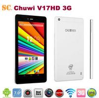 New Arrival Chuwi V17HD 3G Intel Atom Z2520 Dual Core 1.2GHz Tablet PC 7 Inch IPS Screen Dual Camera Bluetooth GPS WCDMA 1G 8G