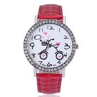 Big dial free shipping fashion watch leather strap quartz analog crystal diamonds for women ladies luxury diamond watch
