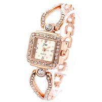 Watch Wrist Womens Rose Gold Watches Fashion Luxury White Charm Bracelet Chain Rhinestone Wholesale Dropship