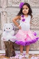 2014 new fashion girl princess tulle petti skirt pink violet fluffy trim healthy nylon manufacturer  china kids soft tutu skirts