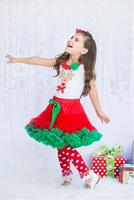 hot sale girls tulle petti skirt kids soft nylon mainland red green inspiring color design childrens christmas tutu skirt