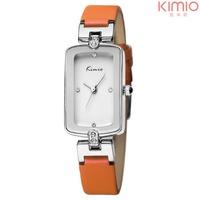 Free shipping fashion designer KIMIO brand quartz analog leather strap relogio watch waterproof women ladies watches gift clock
