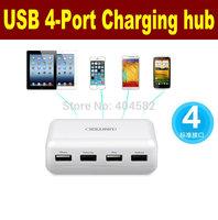 High quality usb smart charger 4 Ports Portable USB Charging hub For iPhone ipad Table Samsung HTC (US Plug)Wall Plug