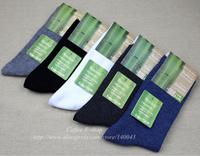 10 Pairs/Lot Bamboo Fiber Men's Socks Free Shipping