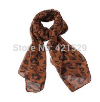 New Female Leopard Print Scarf  Shawl Scarves and Fresh  Jewelry Fashion Fresh  Lady Scarf Free Shipping  Wholesales