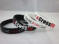 Squat Jump Climb Throw Lift CrossFit Cross Fit 2colours Wristband Bracelet,custom design,debossed,100pcs/lot,free shipping