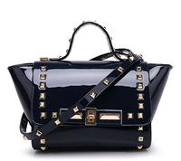 Women messenger bags leather handbags totes Bat Rivet Style patent leather Lady Shoulder messenger bags PL327#52