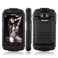 100% Original Discovery V5+ 3G WCDMA Android 4.0 Waterproof Shockproof Mobile Cell Phone MTK6572 dual core Dual Sim
