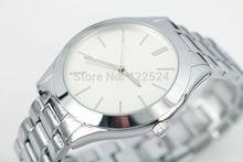2014 New Fashion Women Dress Watch Luxury Rose gold Bracelets Clock For Lady Silver Stainless steel