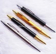 1pcs/lot Commercial metal ballpoint pen Parker pen shape gift pen core solventborne automatic ballpoint pen free shipping(China (Mainland))