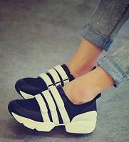 2014 velcro platform casual shoes sport shoes fashion platform wedges single shoes