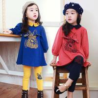 New fashion spring  autumn rabbit girls sets clothing baby girls leggings set kids long-sleeve coat with pants