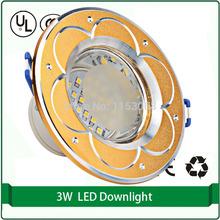 "6W ceiling lamp led down lights 220v gold finish 2.5"" led downlight set led downlight led recessed light(China (Mainland))"