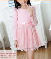 110-150CM,2014 kids elegant lace TUTU dress ,GD-CYH01