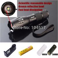 hkbayi  E17 2000 Lumen  Led Cree T6 XM-L 5 mode Flashlight for lamp+1 pcs battery +1pcs charger