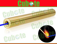 Wholesale Cubote S222 450nm 1300MW Blue Laser Pointer With Focusing Function Can Burn Cigarettes with 24K Gold Surface (Yellow)