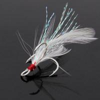 BKK Feathered Treble Hooks Barbed Fishing Hooks 4#,6#,8#,10# 5pcs/pack 20pcs/lot