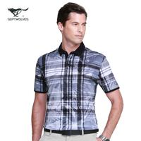 For SEPTWOLVES t-shirt quality mercerized cotton turn-down collar short-sleeve T-shirt men's clothing 602418