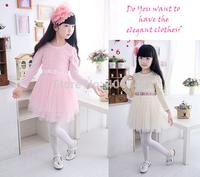 100-140CM,2014 girls 3d flower  dress ,GD-CYH03