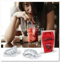 Free Shipping Vampire Teeth Freeze-Ice Cube Tray Mold Maker Silicone Random Colour 1Pcs/Lot