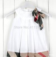 5pcs/lot(1-4 years old) Wholesale Baby girls dresses plaid summer dress children's princess baby sleeveless plaid dress cotton