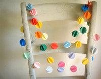 15 Feets  The Mini Pom Pom Paper Garland -